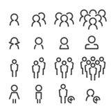 Linea insieme della gente dell'icona fotografia stock