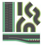 Linea insieme della pista di corsa di formula illustrazione vettoriale