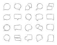 Linea insieme di tiraggio del carbone del fumetto di vettore delle icone royalty illustrazione gratis