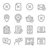 Linea insieme di vettore di scarto dell'icona Contiene tali icone come l'annullamento, nega, errore, venuto a mancare e più Colpo illustrazione vettoriale
