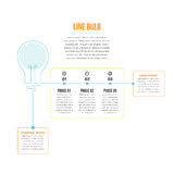 Linea lampadina Infographic Immagine Stock