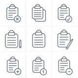 Linea lavagna per appunti isolata vettore di stile delle icone Fotografia Stock