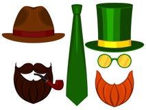 Linea legame classico dell'icona del cappello dell'insieme di elementi dell'avatar di giorno del papà del padre dell'uomo del man royalty illustrazione gratis