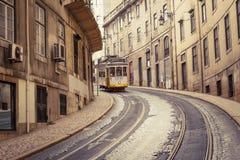 Linea 28, Lisbona, Portogallo del tram Fotografia Stock