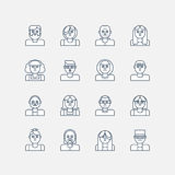 Linea maschio e femminile icone Fotografie Stock