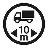 Linea massima icona del segno di lunghezza del veicolo Fotografia Stock