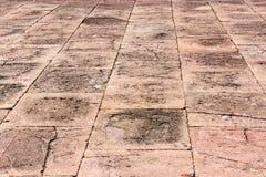 Linea mattonelle di lerciume del cemento della via Immagini Stock Libere da Diritti