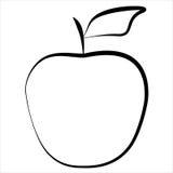 Linea mela dell'icona Immagine Stock