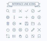 Linea mini icone dell'interfaccia utente Colpo editabile 24 px Fotografie Stock