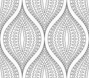 Linea modello decorativo in bianco e nero Immagine Stock Libera da Diritti