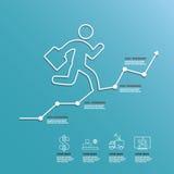 Linea modello del diagramma di affari del grafico Fotografia Stock