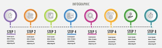 Linea modello minimo di progettazione di Infographic illustrazione vettoriale