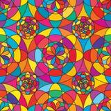 Linea modello senza cuciture geometrico del fiore Immagini Stock