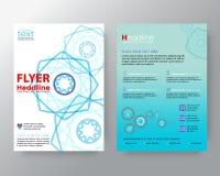 Linea moderna astratta modello della disposizione di progettazione dell'aletta di filatoio dell'opuscolo di vettore del poligono royalty illustrazione gratis