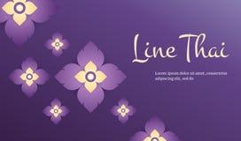 Linea moderna concetto tradizionale del modello tailandese le arti di Thailan Immagine Stock