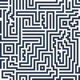 Linea moderna labirinto del fondo senza cuciture astratto di vettore decorativo Immagine Stock