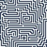 Linea moderna labirinto del fondo senza cuciture astratto di vettore decorativo Fotografie Stock
