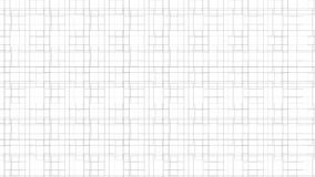 Linea monocromatica modello del quadrato Immagini Stock