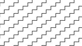 Linea monocromatica semplice modello di zigzag Fotografia Stock