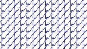Linea monocromatica semplice modello di zigzag Fotografie Stock