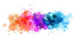 Linea multicolore dell'acquerello Immagini Stock