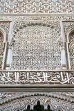 linea nell'estratto ceramico della vecchia pavimentazione in piastrelle dell'Africa Fotografie Stock
