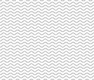 Linea nera modello dell'onda linea ondulata senza cuciture nera fondo fotografie stock