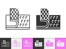 Linea nera semplice icona del fermo del Velcro di vettore royalty illustrazione gratis