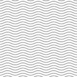 Linea ondulata modello senza cuciture bianco nero Immagini Stock