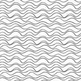 linea ondulata senza cuciture modello di vettore Struttura grafica Fondo disegnato a mano Fotografia Stock Libera da Diritti