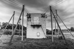 Linea pali di Electirc di potere Fotografie Stock