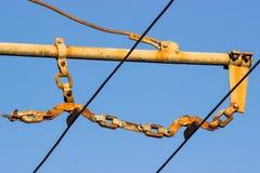 Linea parete del filobus Fotografie Stock