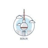Linea piana icona deisgned - Berlino Fotografia Stock Libera da Diritti