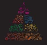 Linea piramide dell'alimento Fotografie Stock Libere da Diritti