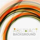 Linea progettazione, eco dell'onda arancio e verde della natura Immagine Stock