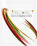 Linea progettazione, eco dell'onda arancio e verde della natura Fotografia Stock Libera da Diritti