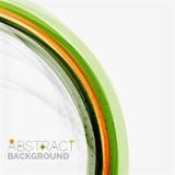 Linea progettazione, eco dell'onda arancio e verde della natura Immagini Stock Libere da Diritti