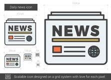 Linea quotidiana icona di notizie Fotografie Stock Libere da Diritti