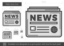 Linea quotidiana icona di notizie Fotografie Stock
