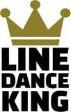 Linea re di ballo royalty illustrazione gratis