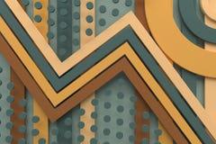 Linea retro d'annata del fondo del modello e rappresentazione del punto 3d Fotografie Stock