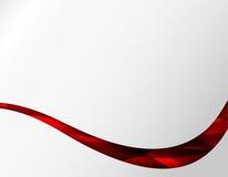 Linea rossa elemento della banda dell'onda della curva del fondo di Abstact della radura illustrazione di stock