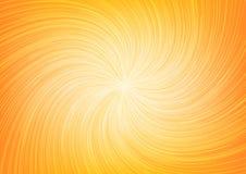 Linea scoppio Ray di torsione della luce bianca su fondo arancio Fotografia Stock Libera da Diritti