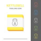 Linea semplice icona segnata di vettore del kettlebell Fotografie Stock Libere da Diritti