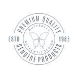 Linea semplice logo della farfalla di arte Immagini Stock