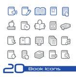 Linea serie di //delle icone del libro Immagini Stock