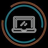 Linea sottile icona del computer portatile semplice di vettore illustrazione di stock
