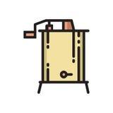 Linea sottile icona dell'estrattore radiale e centrifugo del miele Fotografia Stock