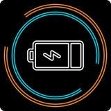 Linea sottile icona della batteria semplice di vettore illustrazione di stock