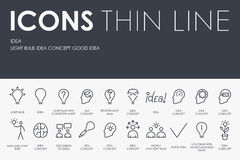 Linea sottile icone di idea royalty illustrazione gratis